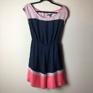 American Eagle Navy, Pink, & Purple Swing Dress